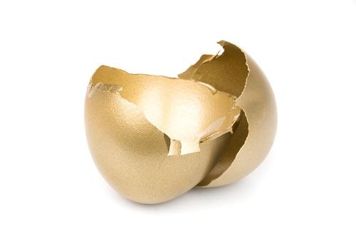 Bijou en or cassé